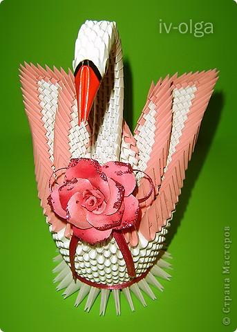 Модульное оригами - Мастер-класс двойного лебедя.